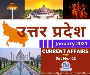 UP Current Affairs January 2021 : Set No.- 02