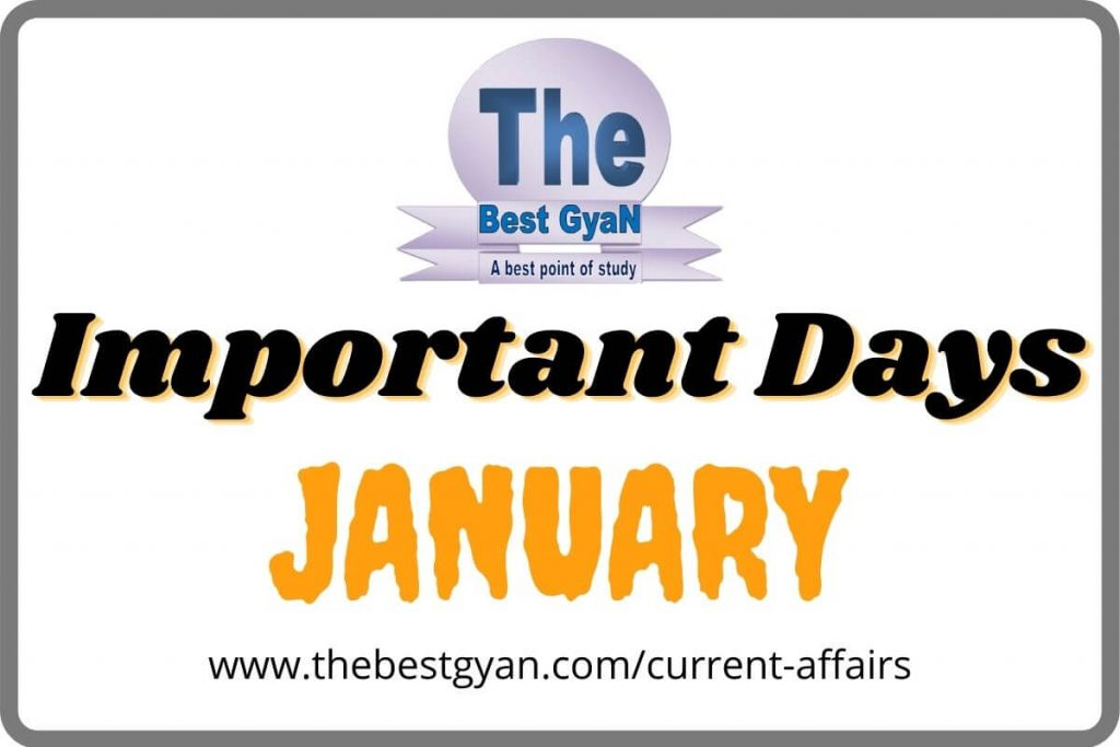 Important Days of January Month
